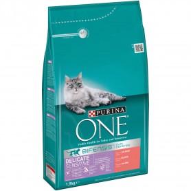 Pienso Purina One Gatos Digestión Sensible rico en Salmón y Arroz para gatos