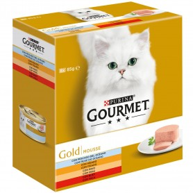 Comida húmeda Purina Gourmet Gold  Mousse Pack Surtido