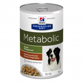 Comida húmeda Hill´s Prescription Diet Canine Metabolic Estofado con sabor a Pollo y Verduras