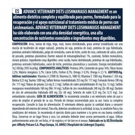 composición de pienso Advance Leishmaniasis Management