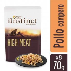 Comida húmeda True Instinct High Meat con pollo y verduras