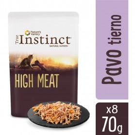 comida húmeda para gatos True Instinct High Meat fillets con Pavo tierno y Verduras