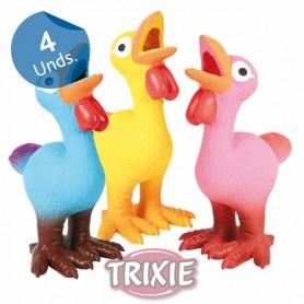 4 Pollos látex, Pesados, 14 cm