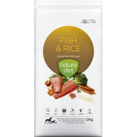 Natura Diet Fish & Rice, pienso para perros naturales