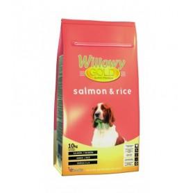 Willowy Gold Salmon y Arroz, pienso para perros con trastornos gastrointestinales