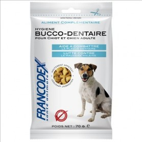 Francodex Snack Buco-dental Perros, Snacks para perros, Higiene bucal