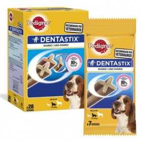 Pedigree Dentastix perros medianos, Snacks para perros, Higiene bucal