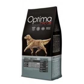 Optima Nova Adult Obesity Chicken & Rice, pienso para perros naturales