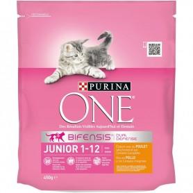 Pienso Purina One Gato Junior rico en Pollo y Cereales Integrales