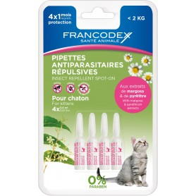 Francodex Pipetas Repelentes Gatitos, Pipetas para gatos