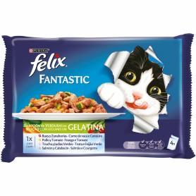 Comida húmeda para gatos Purina Felix Selección de Verduras en Gelatina