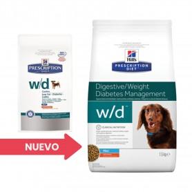 Hill's Prescription Diet Canine w/d mini, pienso veterinario para perros
