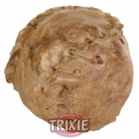 1 Pelota béisbol piel rellena, Snacks para perros, golosina piel