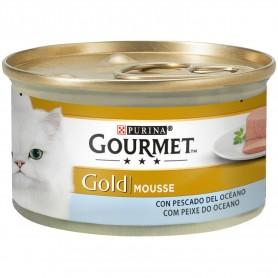 comida húmeda Purina Gourmet Gold Mousse Pescado