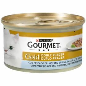 Comida húmeda para gatos Purina Gourmet Gold Doble Placer con Peces del Océano y Espinacas