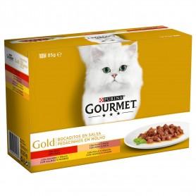 comida húmeda Purina Gourmet Gold Bocaditos en Salsa Pack Surtido