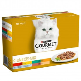 Comida húmeda Purina Gourmet Golg Doble Placer Pack Surtido